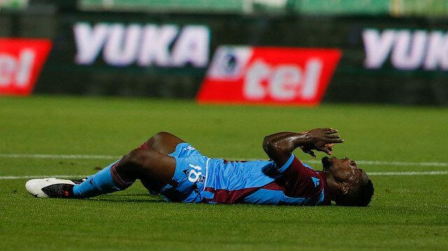 Denizlispor-Trabzonspor karşılaşmasından bir kare