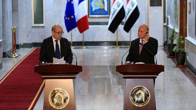 Jean-Yves Le Drian - Fuad Hussein joint press conference in Iraq
