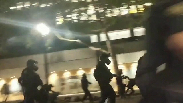 Police use force on Portland protesters after Trump order to protect monuments