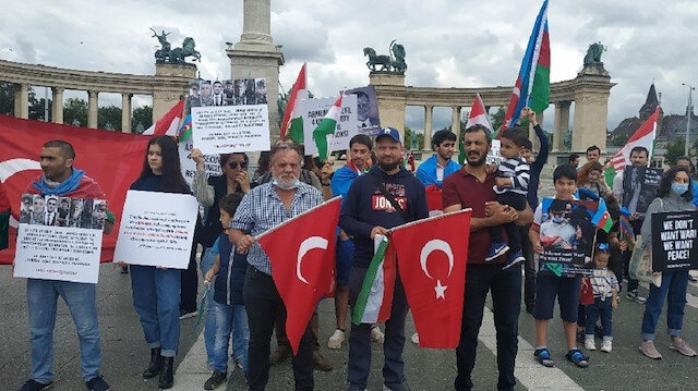Protest against Armenia's border attacks in Hungary