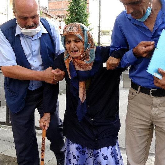 Trabzon'da 87 yaşındaki annesini dövüp sokağa attı: Her yerim yara içinde
