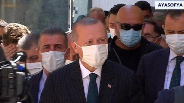 Turkish President Recep Tayyip Erdoğan in Hagia Sophia