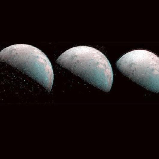 Jüpiter'in uydusu Ganymede'in kuzey kutbu görüntülendi