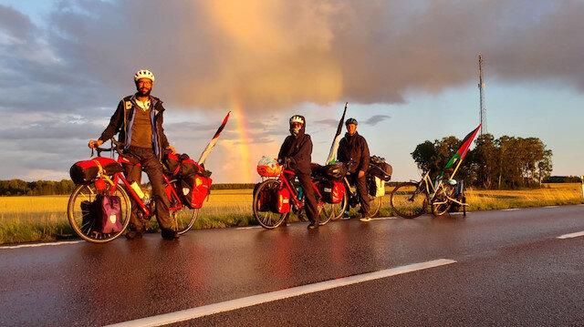 Swedish activist cycles for Gaza