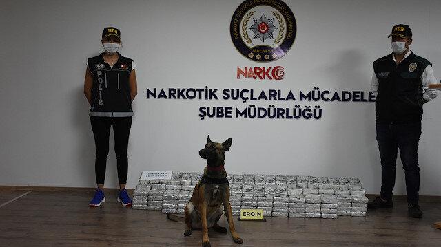 Police seize record 195 kg of heroin in Malatya