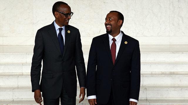 Rwandan President Paul Kagame  & Ethiopian Prime Minister Abiy Ahmed