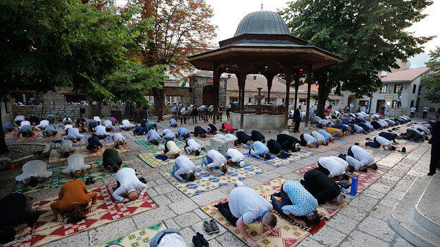 Eid al-Adha prayer in Sarajevo