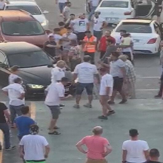 Tekirdağ'da arabalı feribotta sıra kavgası: Cep telefonu kamerasıyla kaydedildi