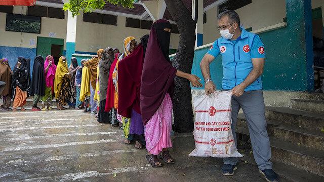 Turkey Diyanet Foundation (TDV) distributes meat aid on Eid al-Adha in Somalia