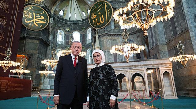 Turkish President Recep Tayyip Erdogan in Hagia Sophia
