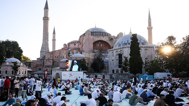 Eid al-Adha prayer at Hagia Sophia Grand Mosque