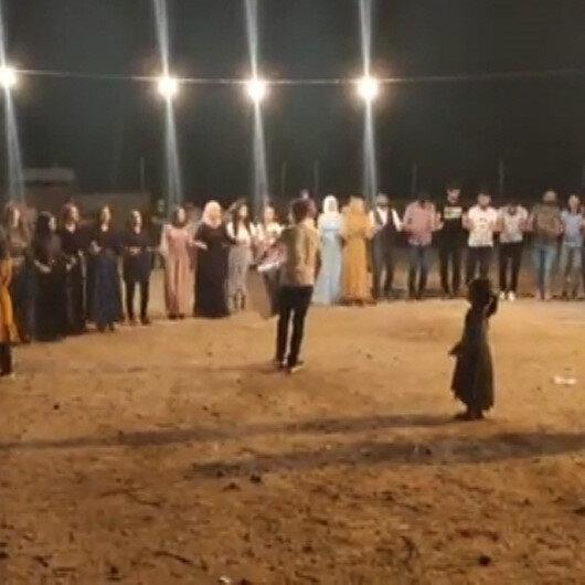 Mardin'de tepki çeken düğün: Onlarca kişi kol kola halay çekti