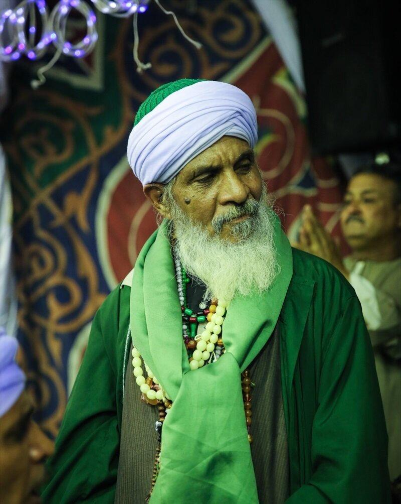 Ahmed el-Bedevî'nun doğumu için yapılan merasimdeki bir Bedevî müridi.