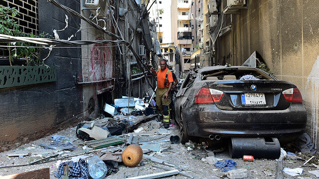 Damages due to explosion in Port of Beirut