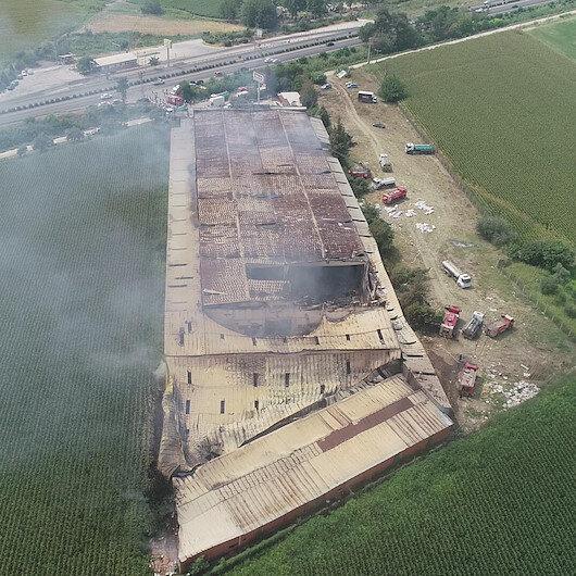 Manisa'daki mobilya fabrikasında büyük yangın: Tamamen küle döndü