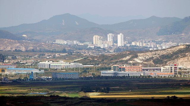 Kaesong city is seen across the demilitarised zone (DMZ) separating North Korea from South Korea in this picture taken from Dora observatory in Paju, 55 km (34 miles) north of Seoul, September 25, 2013.