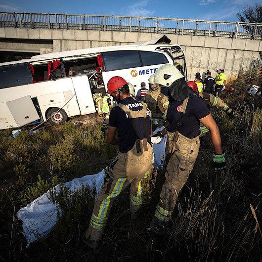 Turkey: 5 die, 25 injured in bus accident