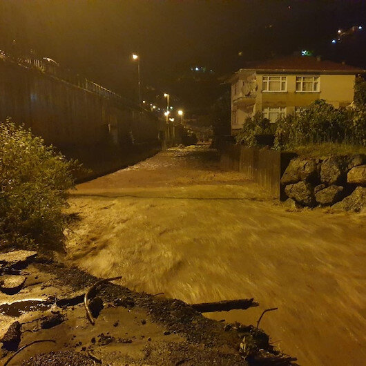 Rize'deki sel sonrası yeni bir felaket önlendi