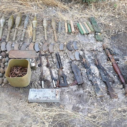 Terrorist PKK weapons, ammunition seized in SE Turkey