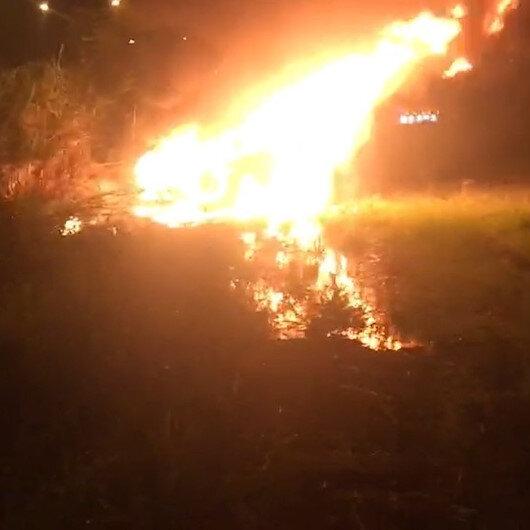 Denizli'de feci kaza: Otomobil sürücüsü yanarak hayatını kaybetti