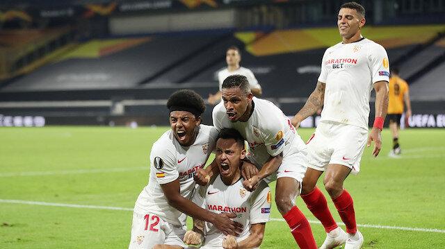 Sevilla son<br>dakikada güldü (ÖZET)