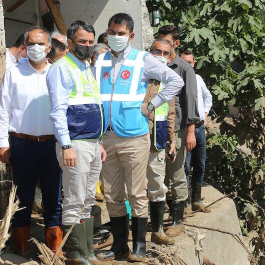 Bakan Kurum açıkladı: Giresun'daki sel felaketi mağdurlarının borçları altı ay ötelenecek