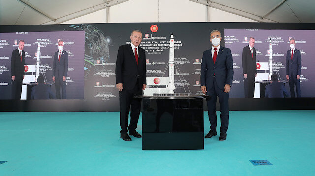 Thee opening ceremony of Turkey's leading defense company Roketsan's production facility and research center in the capital Ankara