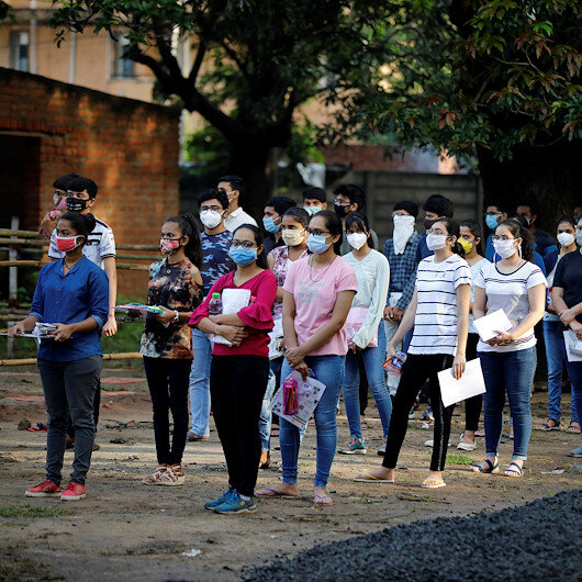 India holds college entrance exam amid COVID-19