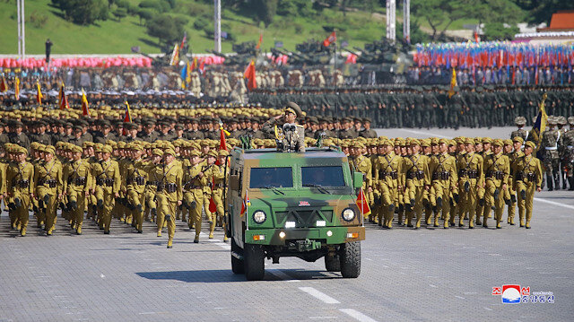 File photo: Soldiers attend a military parade marking the 70th anniversary of North Korea's foundation