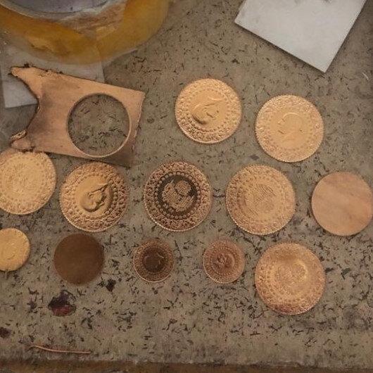 Gaziantep'te sahte altın üreten atölyeye baskın: Operasyonda çok miktarda sahte altın ele geçirildi