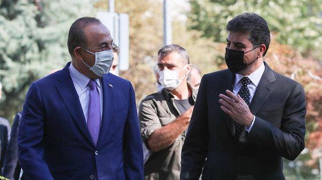 Çavuşoğlu meets KRG head Barzani