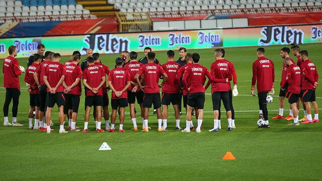 A Milli Takım maçın hazırlıklarını tamamladı.