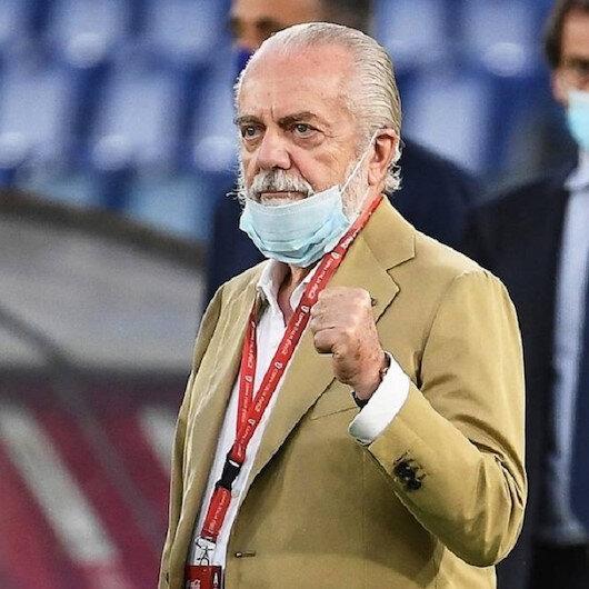 """إصابة رئيس نابولي بـ """"كورونا"""" تهدد انطلاق الدوري الإيطالي"""