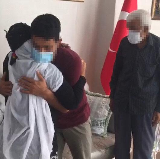 Okurken dağa kaçırılan iki terörist yıllar sonra kaçarak teslim oldular: Aileleri ile kucaklaştılar