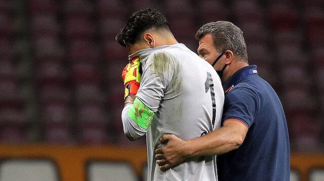 Gaziantep FK kalecisi Günay Güvenç gözyaşlarını tutamadı