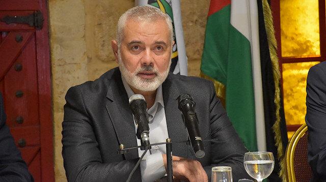 Chairman of Hamas Political Bureau Ismail Haniyeh in Beirut