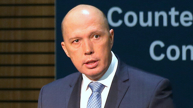 FILE PHOTO: Australian Minister of Home Affairs Peter Dutton