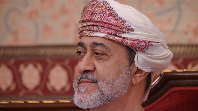 FILE PHOTO: OmanI Sultan Haitham bin Tariq is pictured at al-Alam palace in Muscat, Oman, February 21, 2020. Andrew Caballero-Reynolds/Pool via REUTERS/File Photo