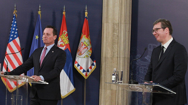 U.S. envoy for the Kosovo-Serbia dialogue Grenell in Belgrade