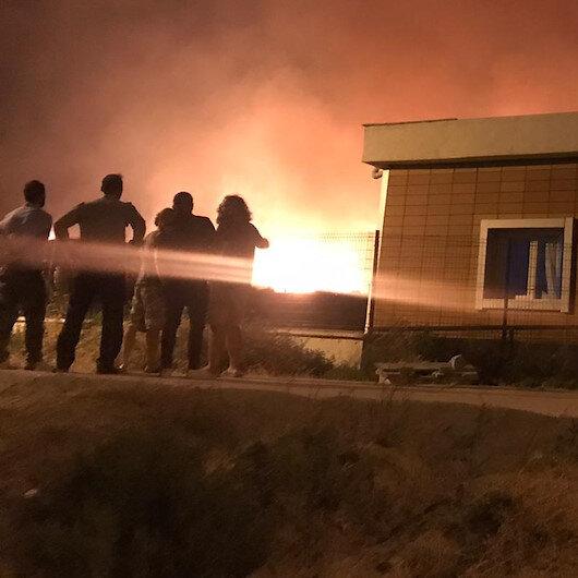 Gökçeada'da korkutan yangın: Öğrenci yurtlarına kadar ulaştı