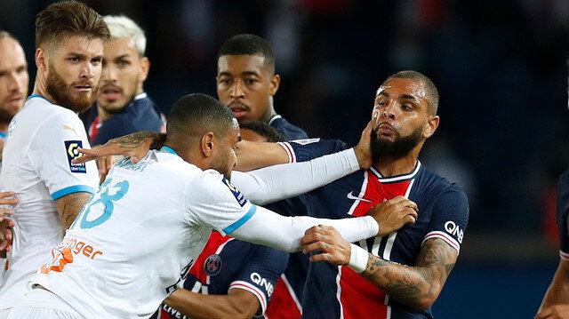 PSG-Marsilya maçında kavga çıktı.