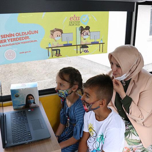 Sakarya'da uzaktan eğitimde yaşanan internet sıkıntısına mobil eğitim çözümü