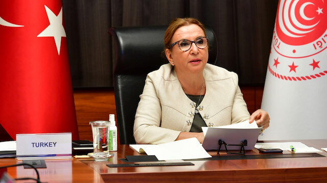 Ruhsar Pekcan speaks at a G20 Trade and Investment Ministers Meeting