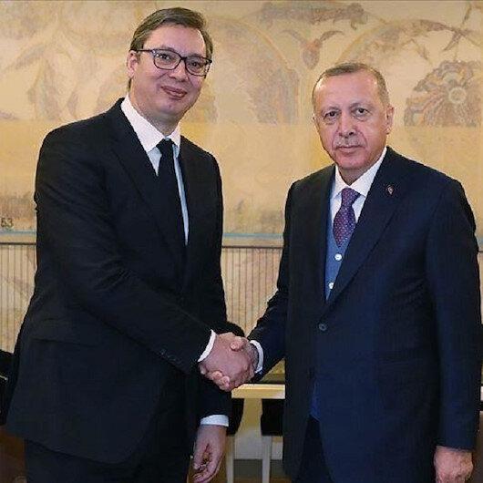 الرئيس أردوغان يلتقي نظيره الصربي في إسطنبول