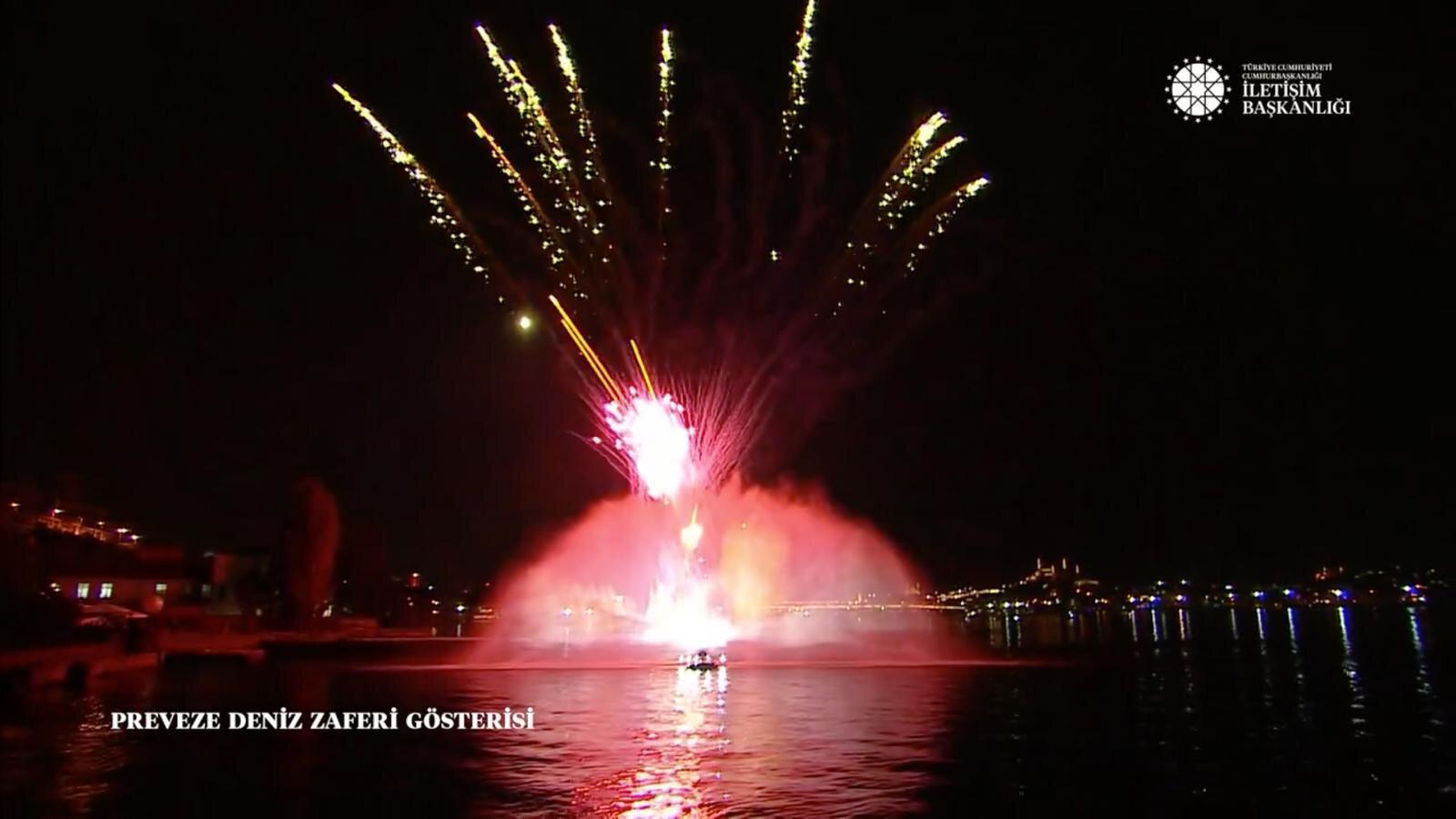 Preveze Deniz Zaferimizin coşkusu, İletişim Başkanlığı tarafından Haliç'te kutlandı.