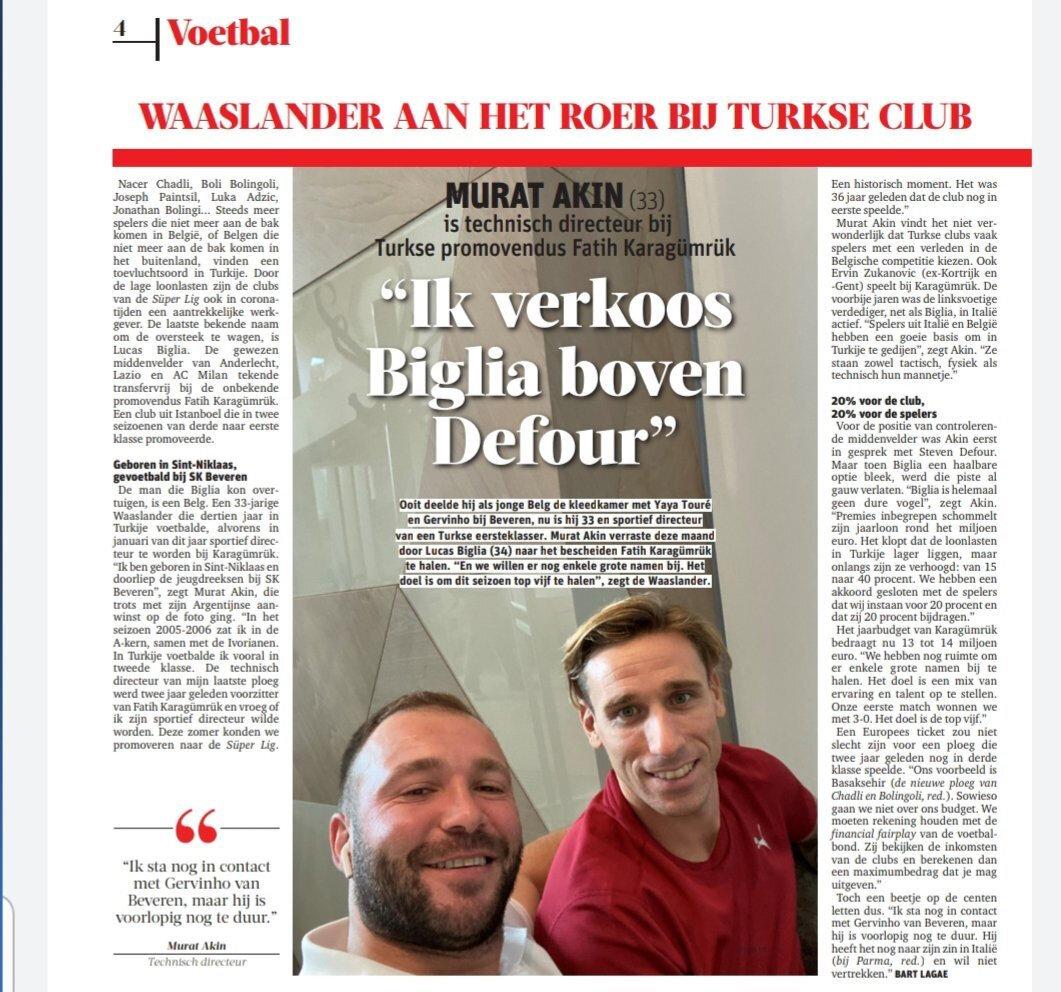 Biglia'nın Karagümrük'e transferi Avrupa basınında da gündem haline geldi.
