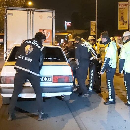 Bursa'da film gibi kovalamaca: 45 dk kaçan sürücünün çantasından 1 kilo metamfetamin çıktı