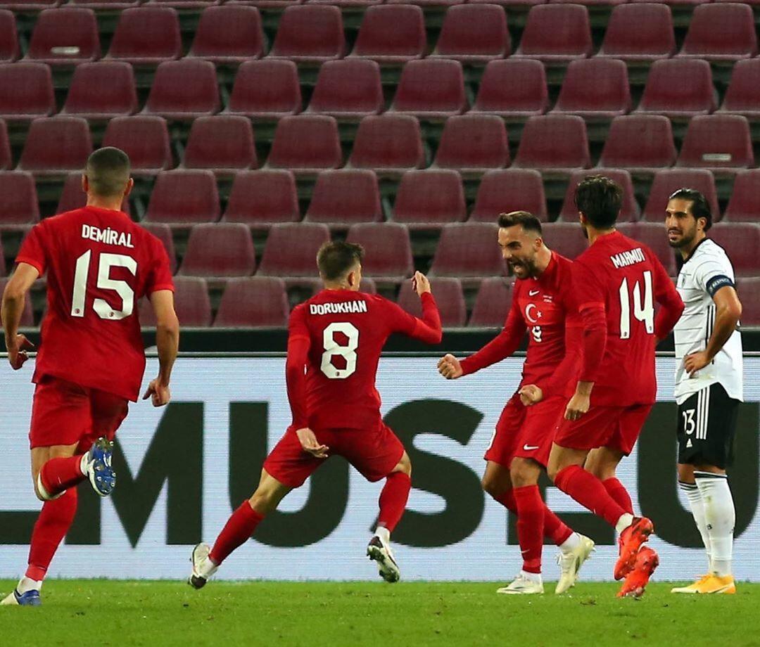Kenan Karaman'ın Almanya maçındaki gol sevinci.