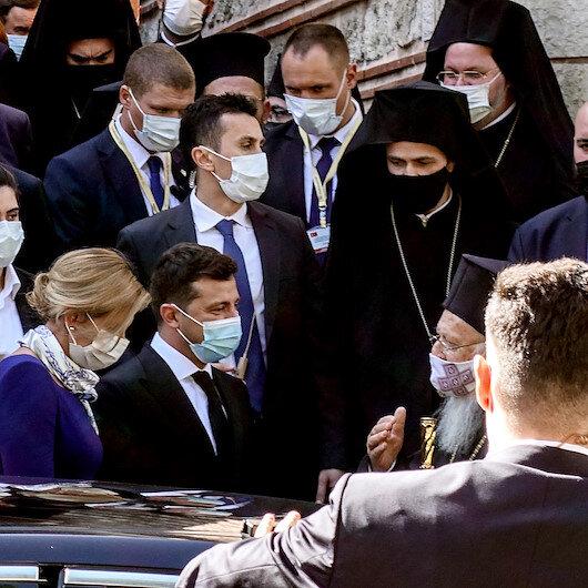 الرئيس الأوكراني يلتقي بطريرك الروم الأرثوذكس بإسطنبول