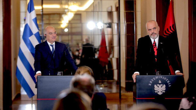 File photo: Nikos Dendias - Edi Rama meeting in Tirana